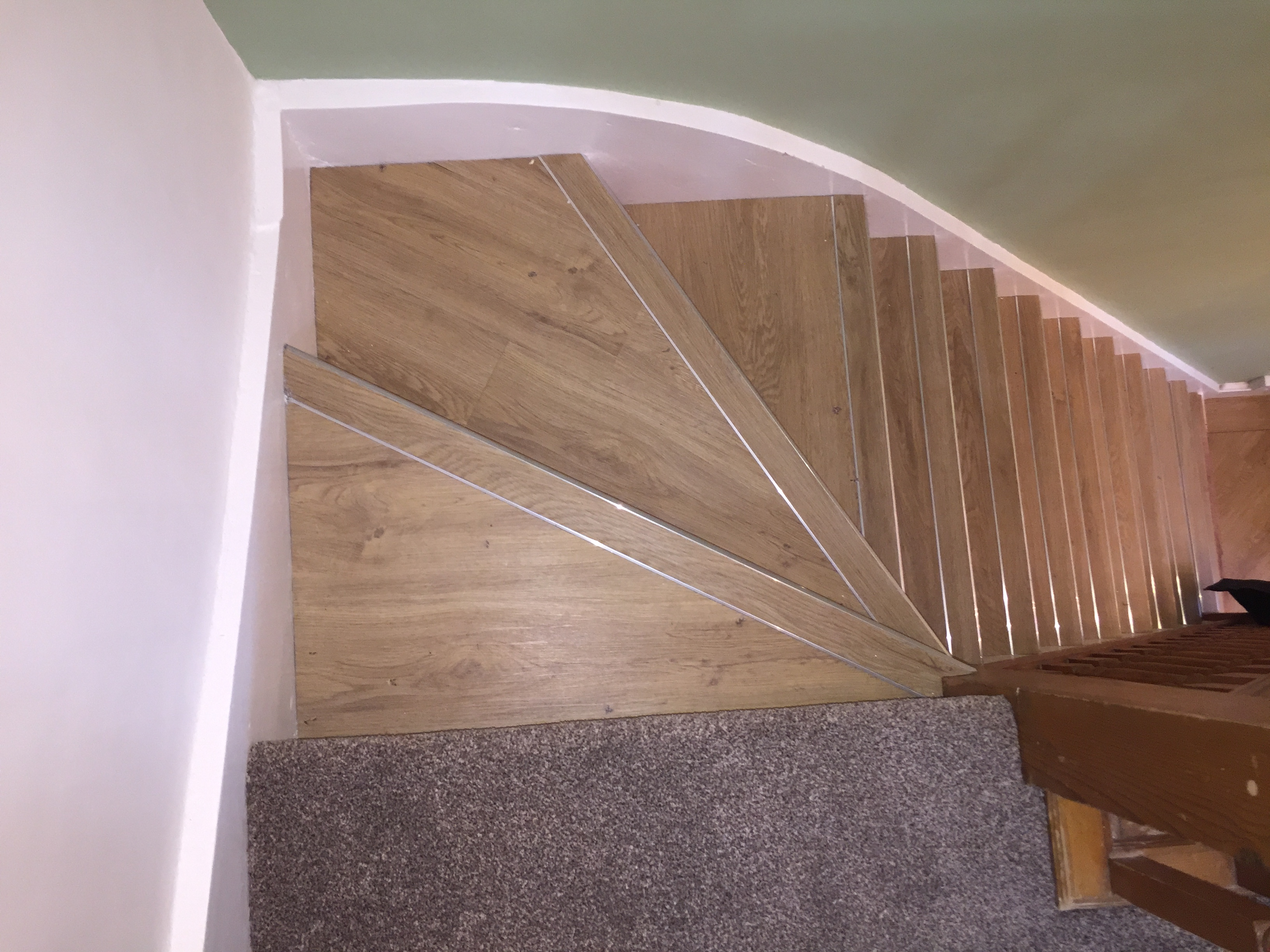 LVT stairs with nosing