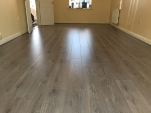 Laminate flooring living room